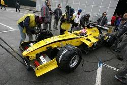 Thomas Biagi in the Jordan F1