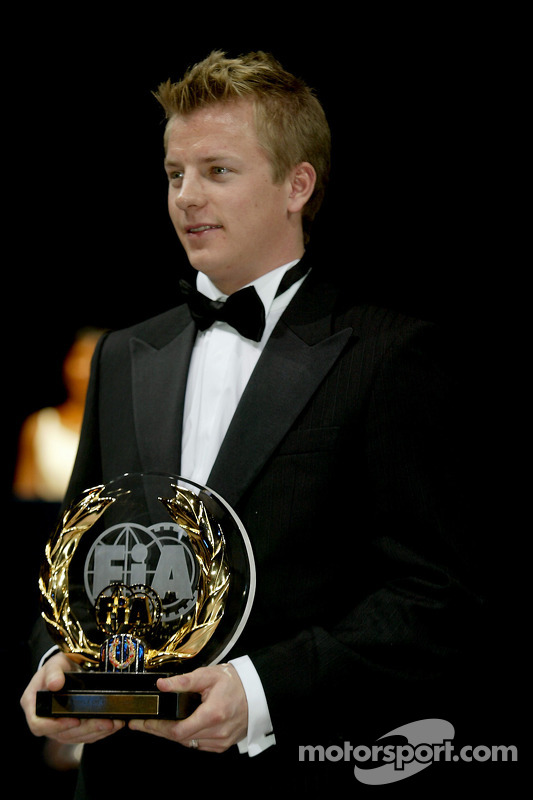 Fia Formula One Second Place Kimi Raikkonen At 2005 Fia Gala Prize Giving Ceremony Monaco