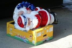 Santa Claus takes a nap