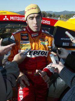 Mitsubishi Motors Repsol Team test in Vilovi D'Onyar: Nani Roma