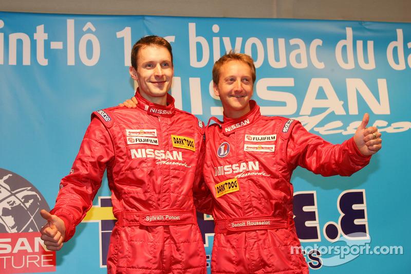 Présentation de l'équipe Nissan à Dessoude: Sylvain Poncet et Benoit Rousselot