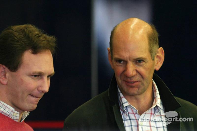 Christian Horner and Adrian Newey