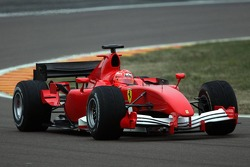 Michael Schumacher tests the new Ferrari F2006, 8 days before its launch