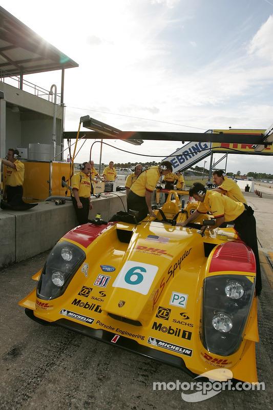 La zone des stands de Penske Racing