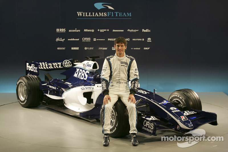 Mark Webber with the new Williams FW28