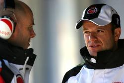 Rubens Barrichello with Jock Clear