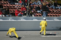 Track crew clean up the trioval