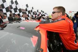 Pole winner Jeff Burton focuses before the race