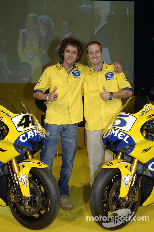 Valentino Rossi et Colin Edwards