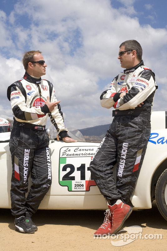 Honda Racing F1 Team's Rubens Barrichello and Team Sporting Director Gil de Ferran travelled to Oaxaca, Mexico to drive part of the legendary Carrera Panamericana road race