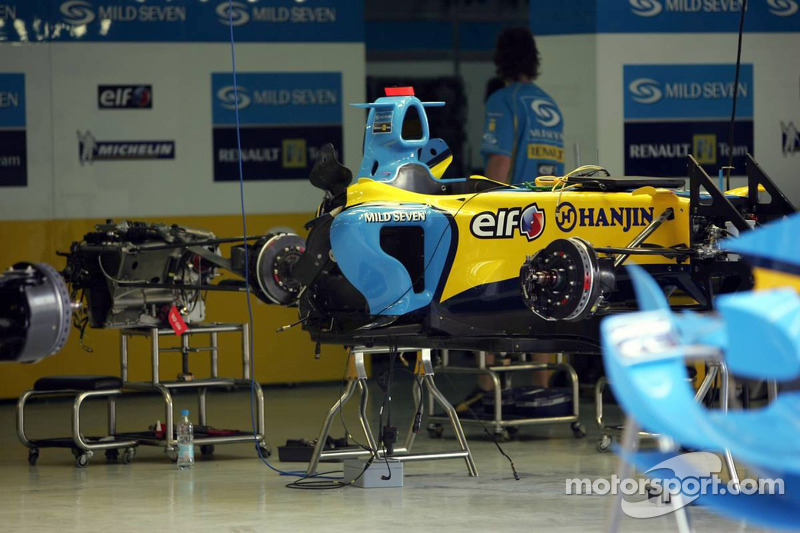 Zona de pits de Renault F1