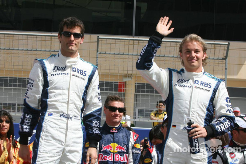 Drivers presentation: Mark Webber and Nico Rosberg