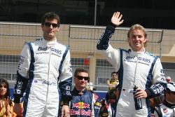 Drivers presentation: Mark Webber and Nico Rosberg