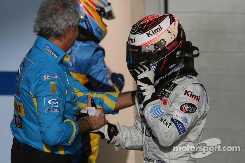 Flavio Briatore y Kimi Raikkonen