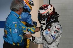 Flavio Briatore and Kimi Raikkonen