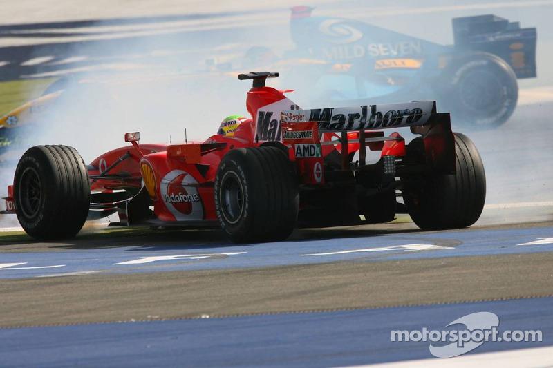 Felipe Massa spins