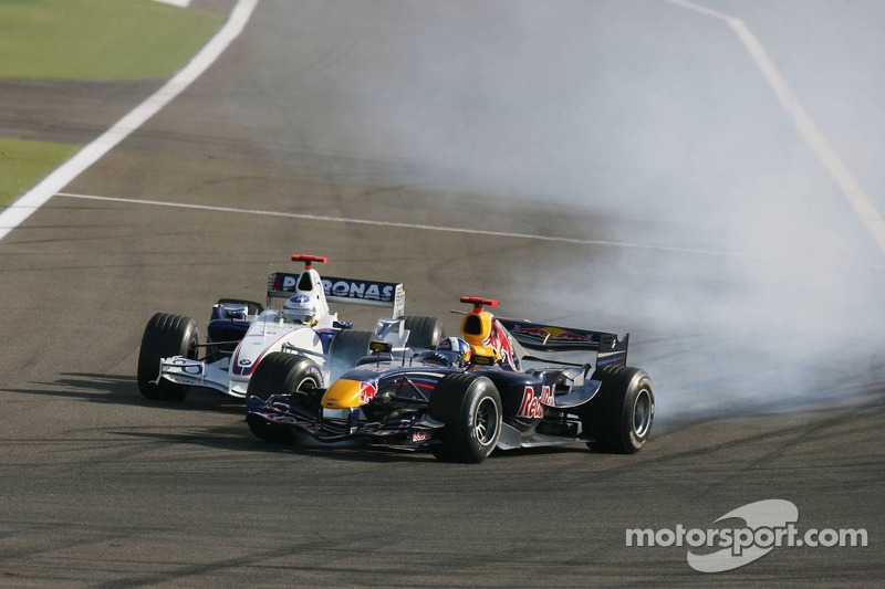 David Coulthard y Nick Heidfeld