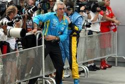 Flavio Briatore joins in the celebrations