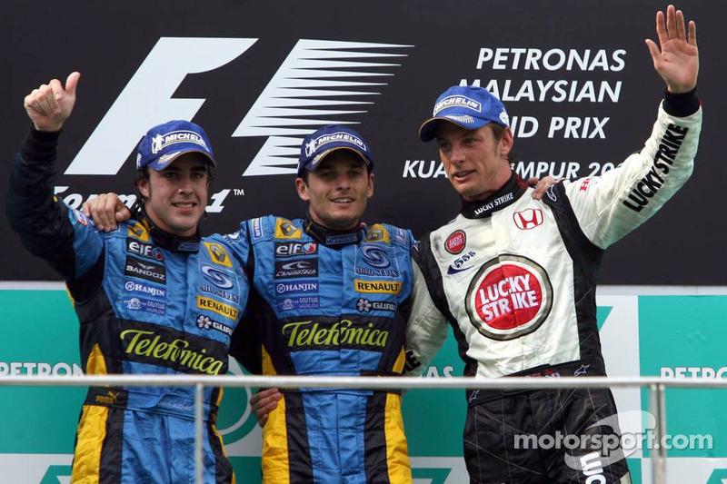 2006: 1. Giancarlo Fisichella, 2. Fernando Alonso, 3. Jenson Button