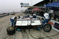 B-K Motorsports pit area