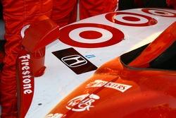 A tribute to Paul Dana on the winning car