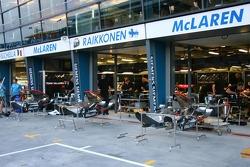 McLaren garage area