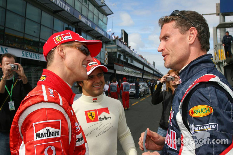 Michael Schumacher y David Coulthard