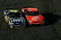 Tony Stewart and Jimmie Johnson battle