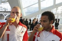 Lewis Hamilton and Alexandre Premat