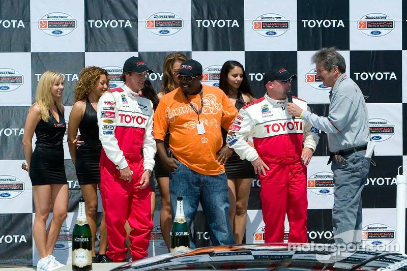 Le podium de la course des célébrités avec Bucky Lasek