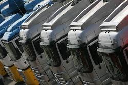 McLaren transporter