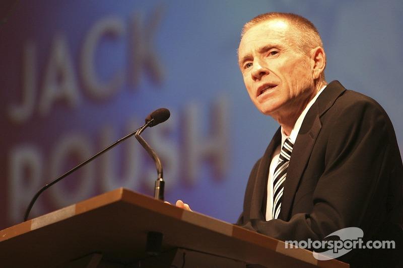 Mark Martin parle à propos de son propriétaire d'équipe Jack Roush qui est mis dans le Motorsports Hall of Fame à Talladega
