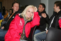 Seat Leon Supercopa: Cora Schumacher attends the driver's briefing