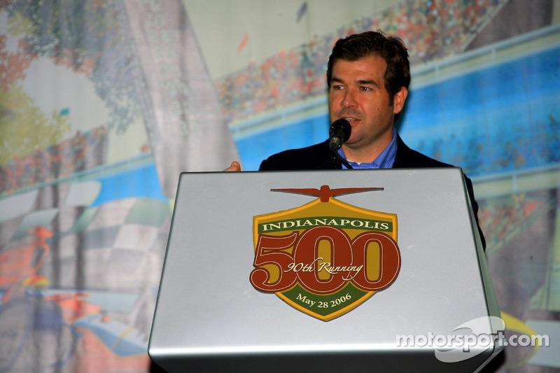 Le président de Indianapolis Motor Speedway Joie Chitwood à la présentation de la Chevrolet Corvette Z06 Indianapolis 500 Pace Car