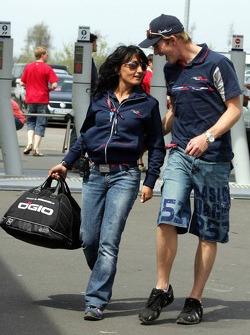 Scott Speed with press officer Fabiana Valenti
