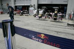 Nose cones of Scuderia Toro Rosso racing cars