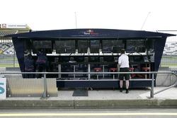 The pit gantry of Scuderia Toro Rosso