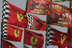 Ferrari and Michael Schumacher flags