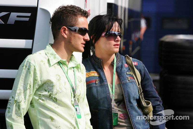 Timo Scheider avec sa femme