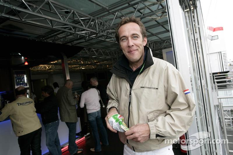 Patrick Huisman dans la Red Bull Energy Station