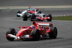 Felipe Massa leads Kimi Raikkonen