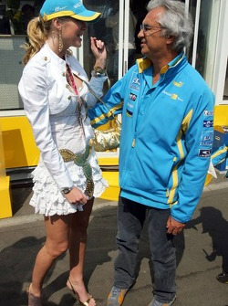 Miss Allemagne et Flavio Briatore