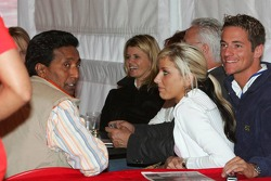 Balbir Singh, Corina Schumacher, Sebastian Stashl and his girlfriend Sarah