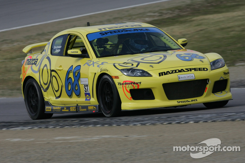 #68 SpeedSource Mazda RX-8: Scott Schlesinger, Ken Dobson