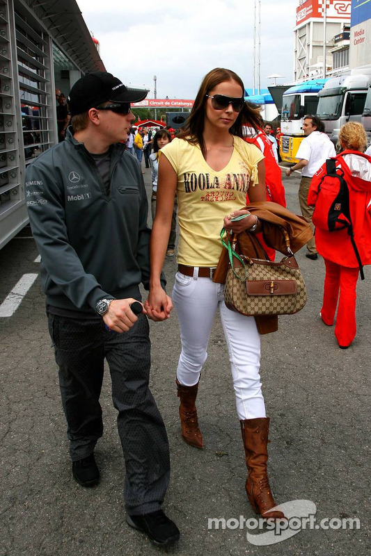Kimi Raikkonen with wife Jennie at Spanish GP