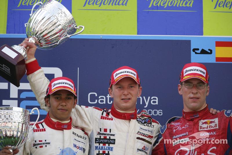 Alexandre Premat premier, Lewis Hamilton deuxième, Michael Ammermuller troisième