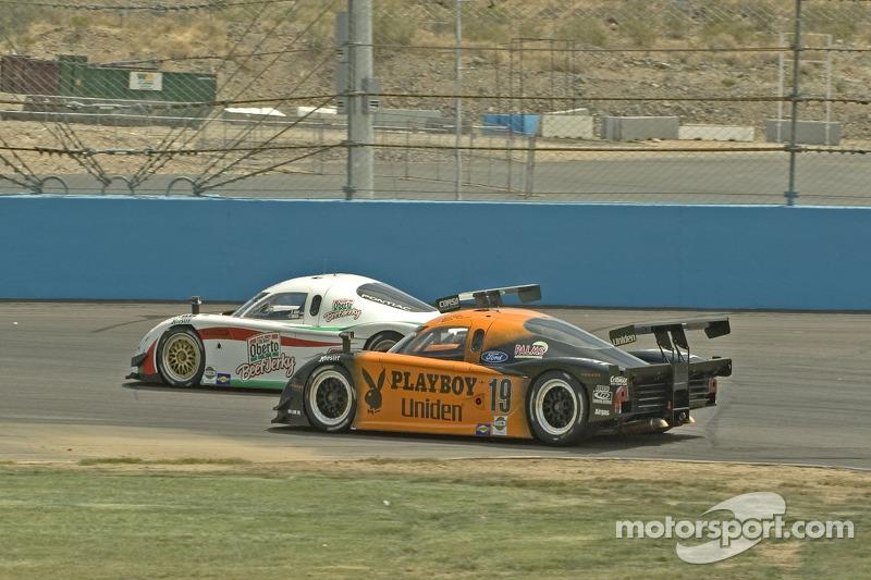 #09 Spirit of Daytona Racing Pontiac Crawford: Doug Goad, Larry Oberto, #19 Playboy/ Uniden Racing Ford Crawford: Guy Cosmo, Michael McDowell