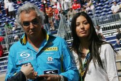 Flavio Briatore and his girfriend  Eleondra Gregoracci