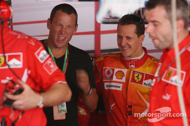 Lance Armstrong et Michael Schumacher