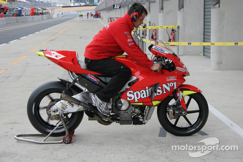 La boîte de vitesses de Honda Gresini